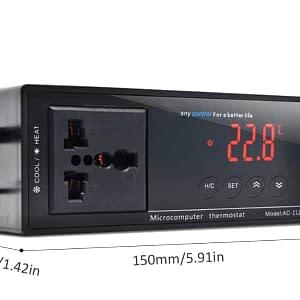 Digital Display Intelligent Plug-In Thermostat Universal Socket ON/OFF Regulator for Aquarium