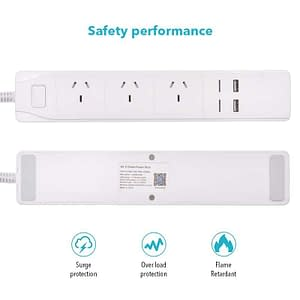 Multi-board WiFi USB Smart AU Plug Overload Switch Surge Protector 3 x Outlet 2 x USB Ports