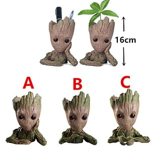 Resin Cute Cartoon Tree Man 3 style Aquarium Decor