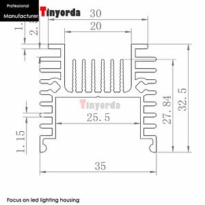 Tinyorda TH3536A 2Pcs (1M Length) Led Pendant Light w Heatsink