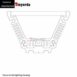 Tinyorda TWH5530 2Pcs (1M Length) 70W Commercial LED  Lighting Housing