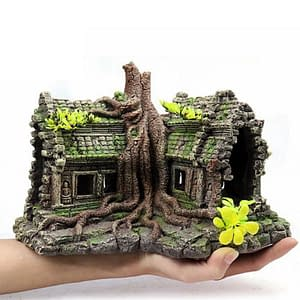 Resin Imitation Wooden Root House Ruins Decoration