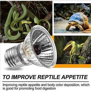Reptile Lamp Bulb Basking UVA+UVB  Heating Lamp Reddish