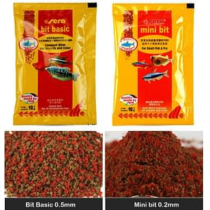 Sera Mini bit basic small tropical fish food
