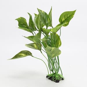 Aquarium  Plastic Green  Leaved Plant