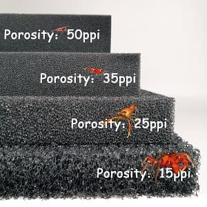 Aquatic Bio Sponge Filter Foam for Aquarium Porosity 15 25 35 50 ppi