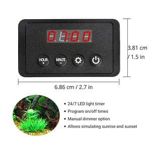 Nicrew LED Light Dimmer Controller Sunrise Sunset Modulator For Aquarium  Led