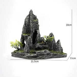 Alpine Resin Mountain Rocky Peak Aquarium Decoration