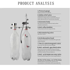 Aquarium CO2 Regulator System Kit For Plants