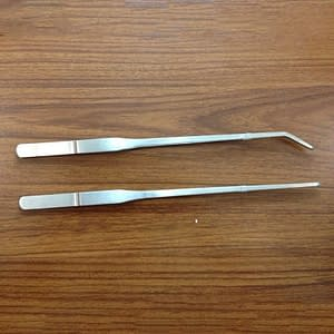 Stainless Steel Fish Tank Tweezers  27cm/38cm/48cm Straight/Elbow