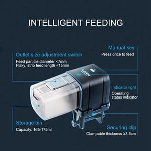 SUNSUN Automatic Aquarium Food Feeder Remote Control WIFI Wireless Fish Tank Auto Timer Fish Feeder