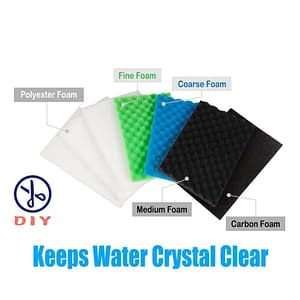 Value Pack of Large DIY Poly Coarse Fine Foam Filter Pads Set for Aquarium