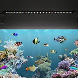 Aquarium Lighting LED 30W Super Slim 156 RGB 120-125CM Extensible Clip