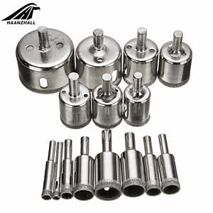 15pcs Diamond Coated Drill Bit Set 6mm-50mm for cutting hold in tanks