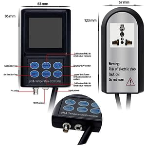 Digital PH and Temperature Controller Meter With Backlight LCD Display