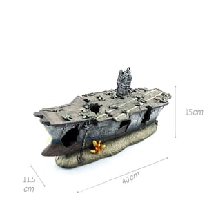 Aquarium decoration  Aircraft Carrier Wreckage Resin