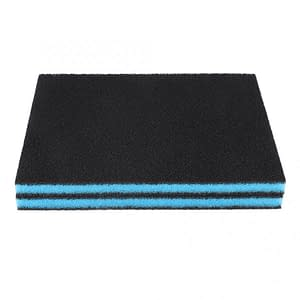 2PCS Aquarium Filter Cottons Black Biochemical Foam Sponge