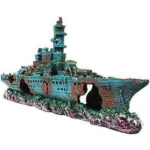 Aquarium Sunk Ship Wreck Navy Boat Decor