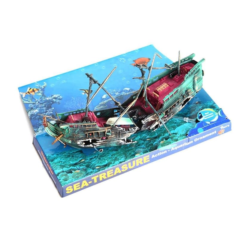 24*12cm Large Aquarium Decoration Boat