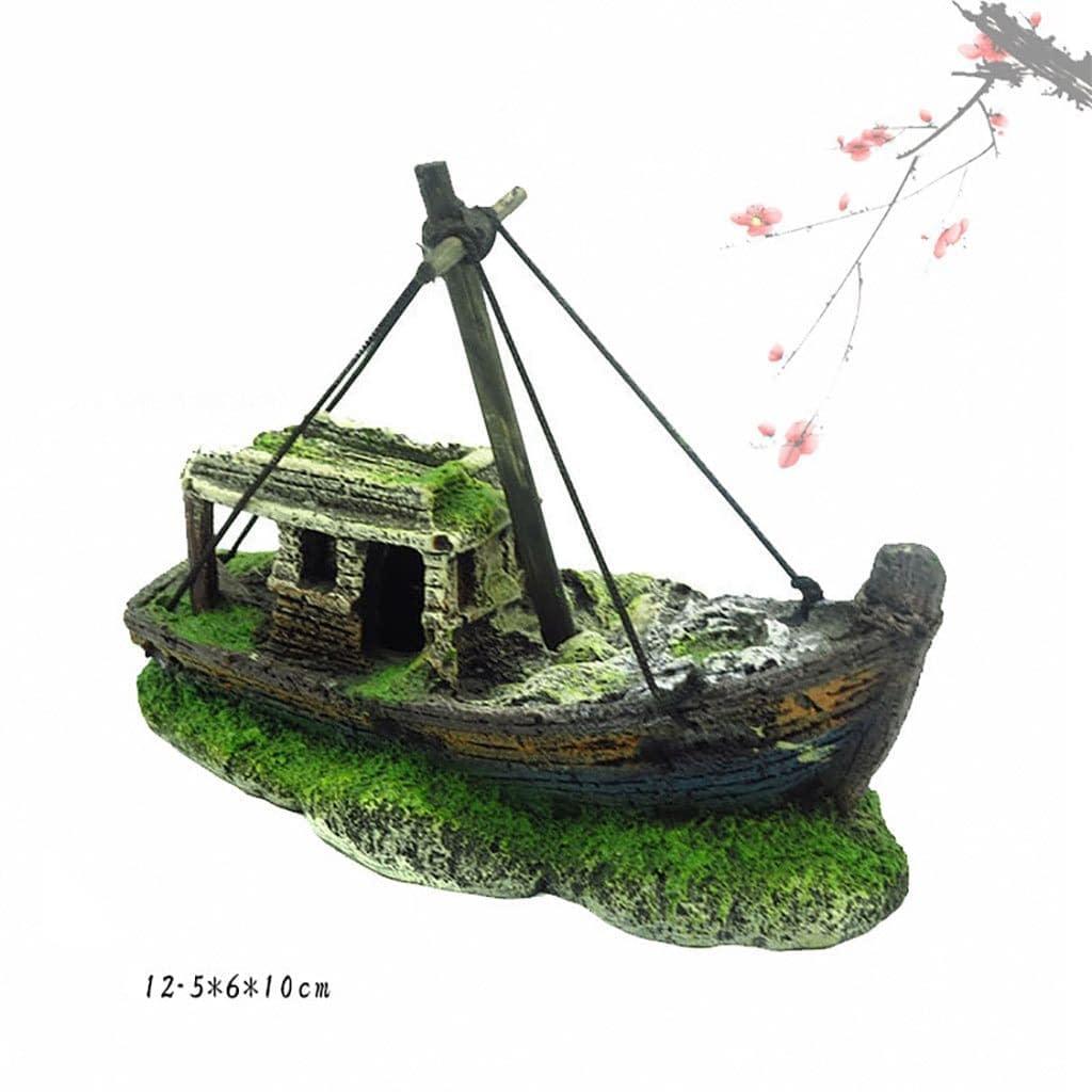 Aquarium Resin Pirate Ship Wreck Ship Decor