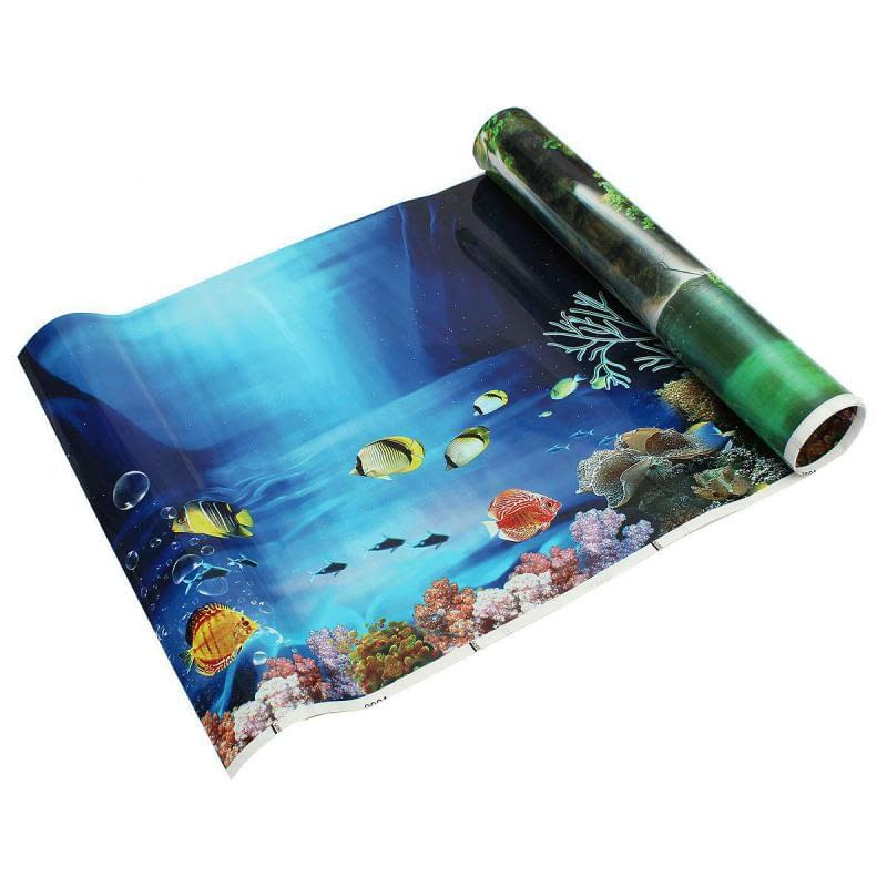 PVC Double Side Aquarium Background Poster  30/40/50cm(Height)