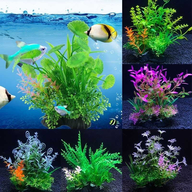Artificial Plants for Aquarium 14Cm Decoration