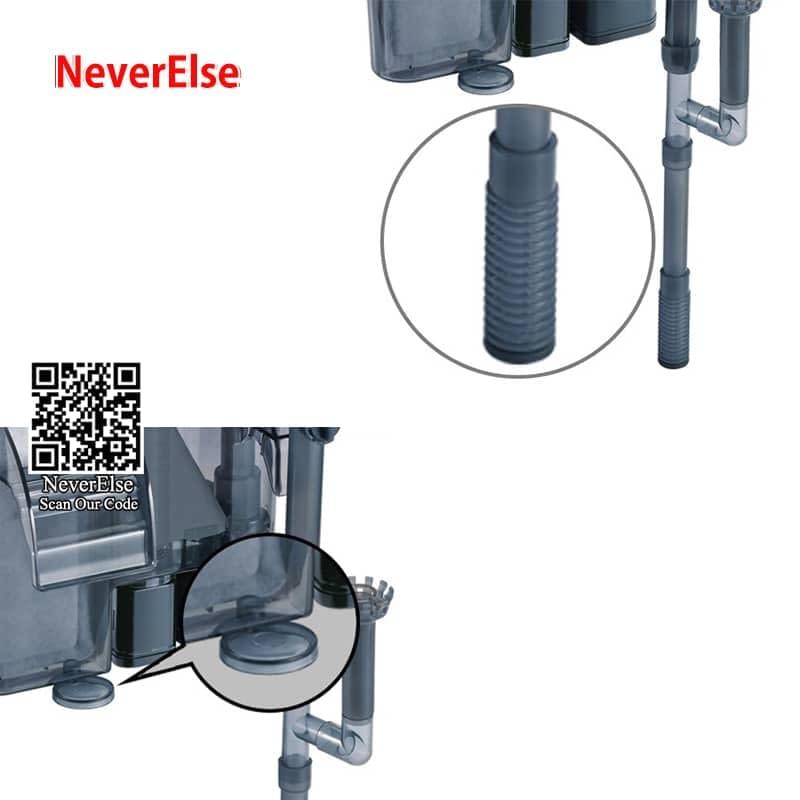 External Aquarium UV Filter Pump 4-in-1 Water Circulation Filter/UV Sterilizer/Oil Skimmer/Increase Oxygen for Fish Tank Hanging