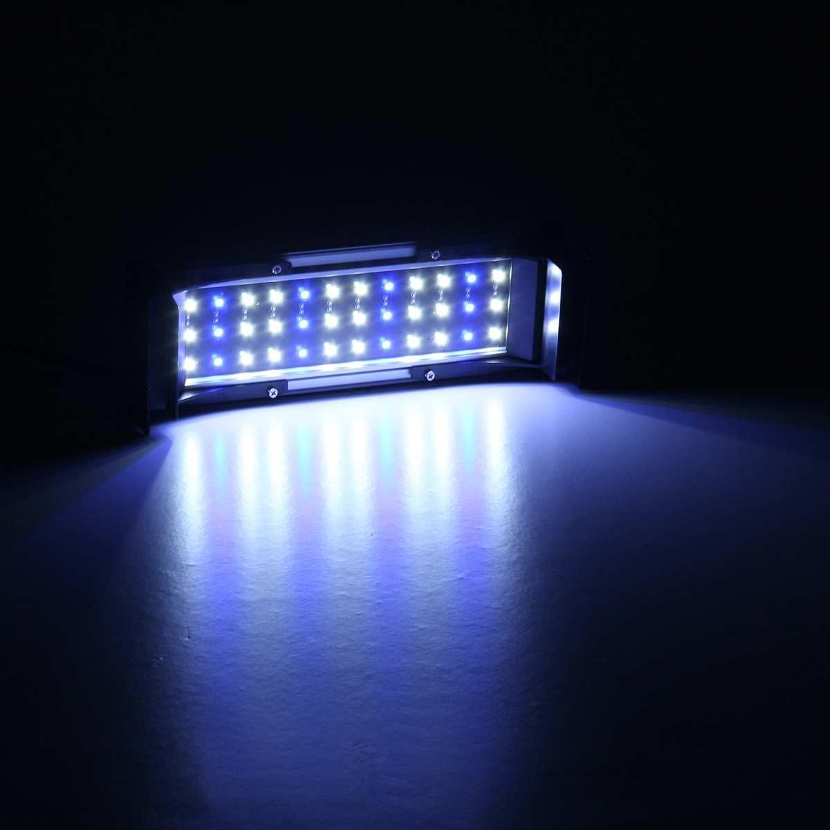 Aquarium Light Blue/White Bar  Lamp 30-120cm Adjustable Dimmable Light