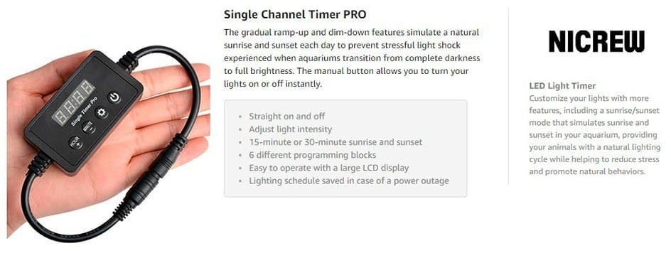 Nicrew Single Channel Timer Pro Dimmer Controller For Aquarium  Light Lamp Intelligent Timing Dimming System