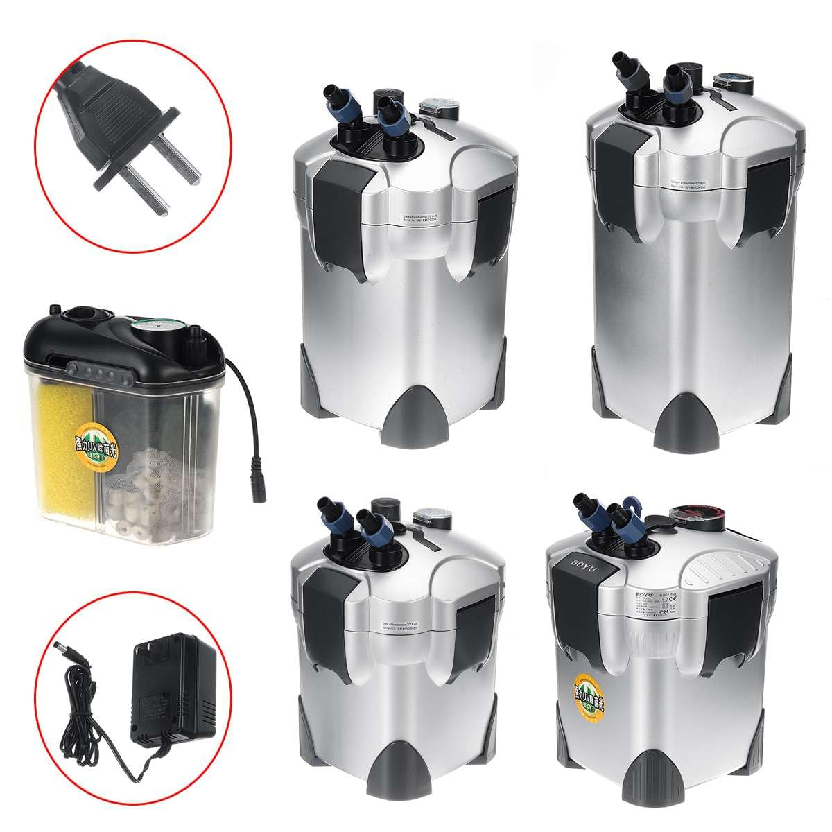Aquarium External Canister Filter + UV Lamp Light