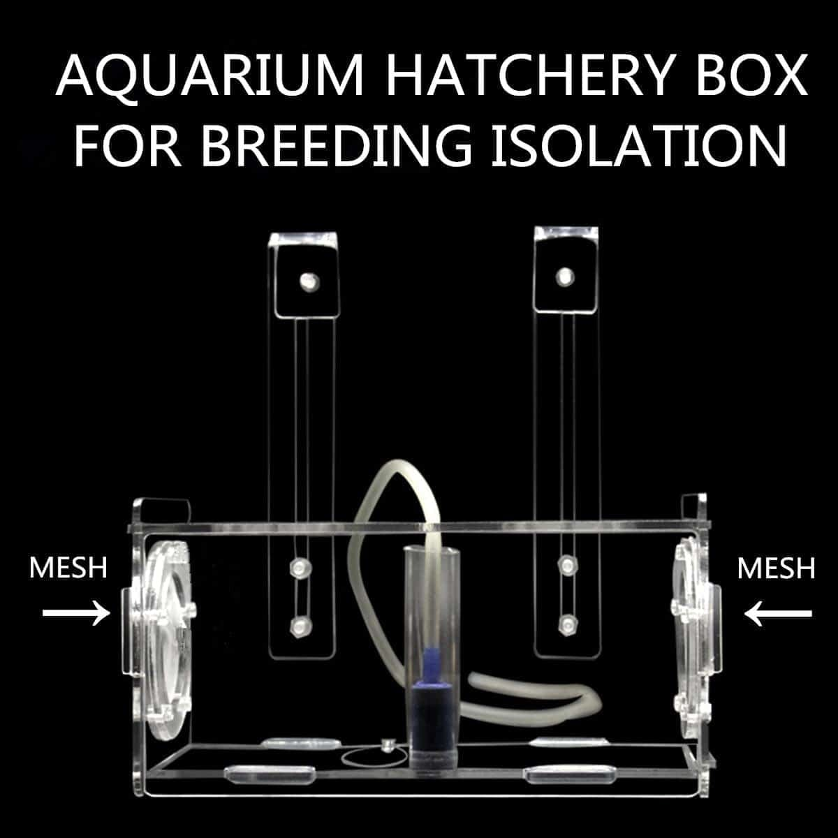 Acrylic Clear Fish Breeding Hatchery and Breeder Isolation Box