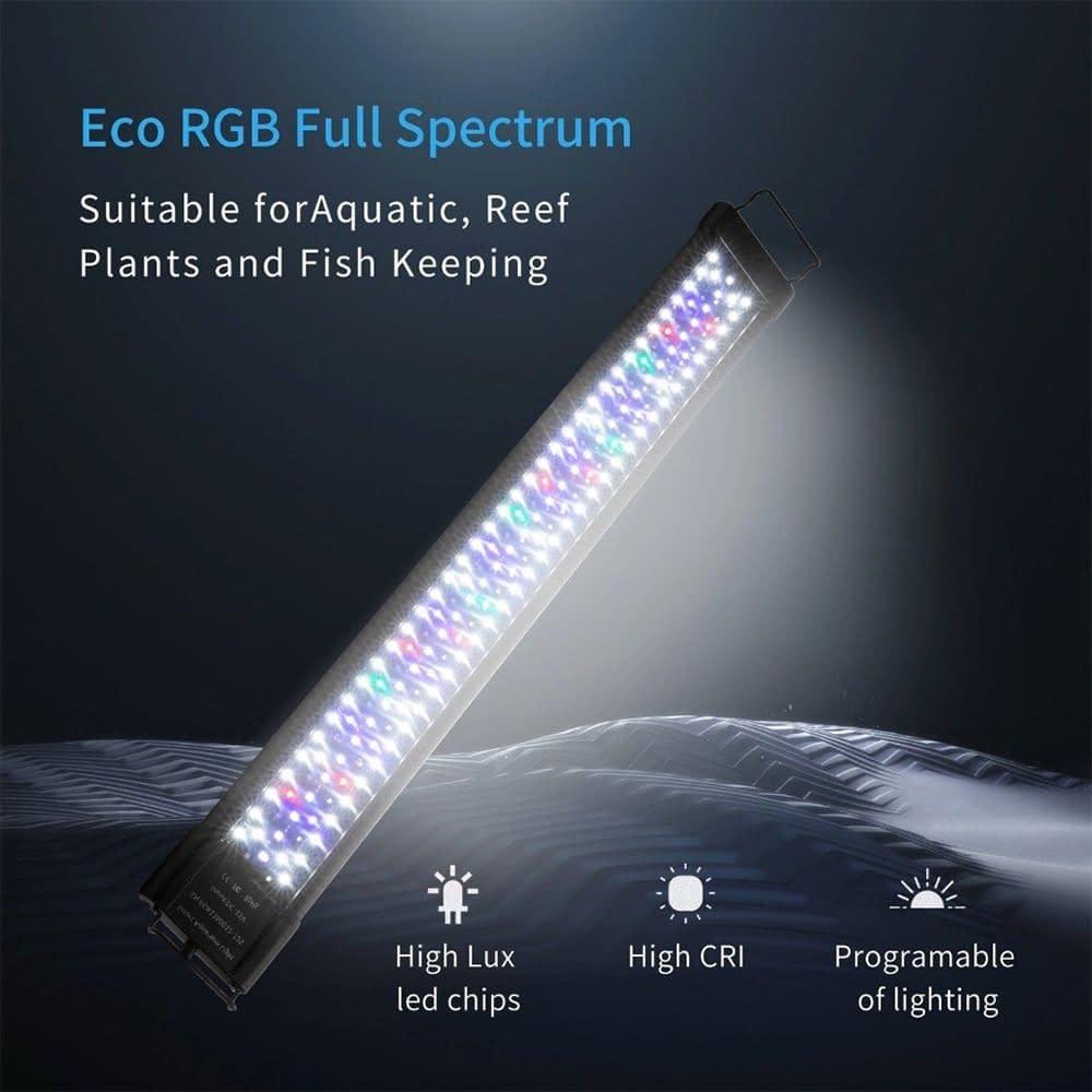 LED Waterproof Aquarium Light 60/75/90/120cm with night/day auto on/off