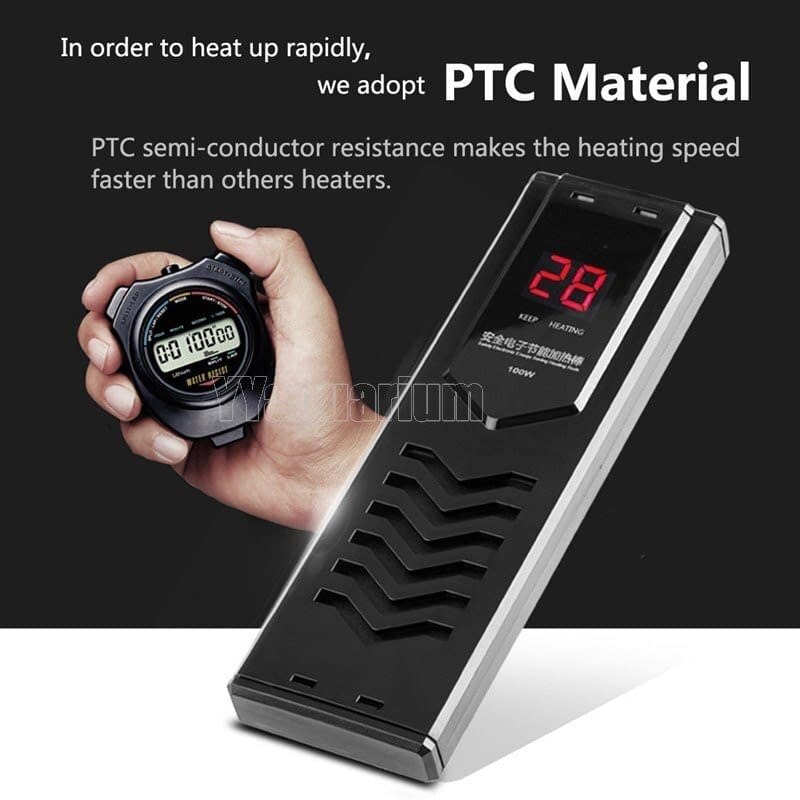 Smart Digital Double Sensor PCT Heater Submersible Water Heater with Thermostat