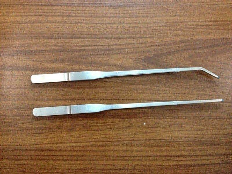 Stainless Steel Fish Tank Tweezers 27cm/38cm/48cm Straight/Elbow