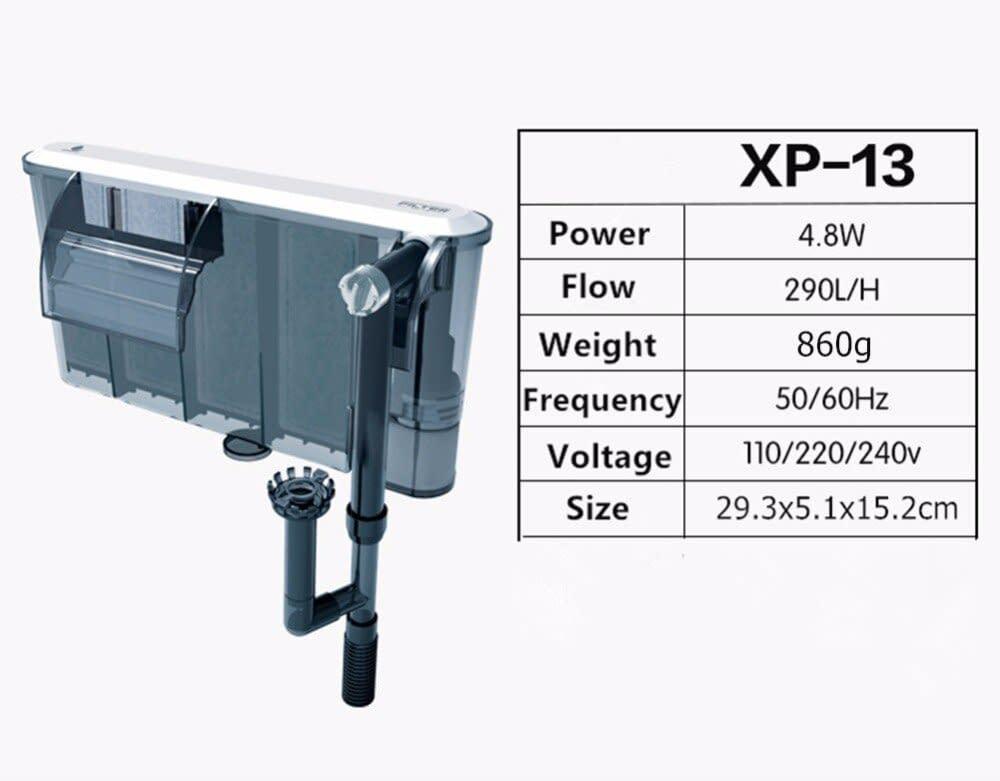 Nicrew XP 05/09/11/13 Aquarium Filter Box Waterfall Water