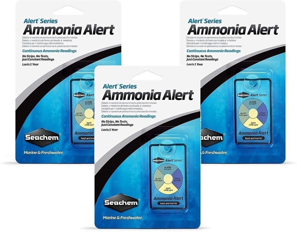 Seachem Ammonia Alert PH Alert 1 Year Monitor (3 Pack)