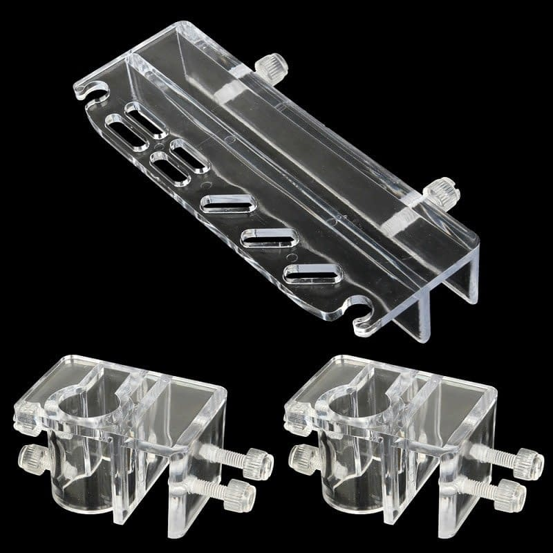 High Quality Acrylic Aquarium Plant Tweezer Scissor with 2pcs Aquarium Clamp Lily Pipe Acrylic Fixture Holder for Aquatic Plant