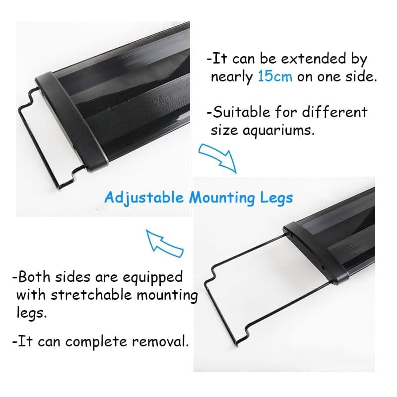 30W Super Slim 156 LED RGB Aquarium Lighting 120-125CM Extensible Clip on Lamp for Fish Tank