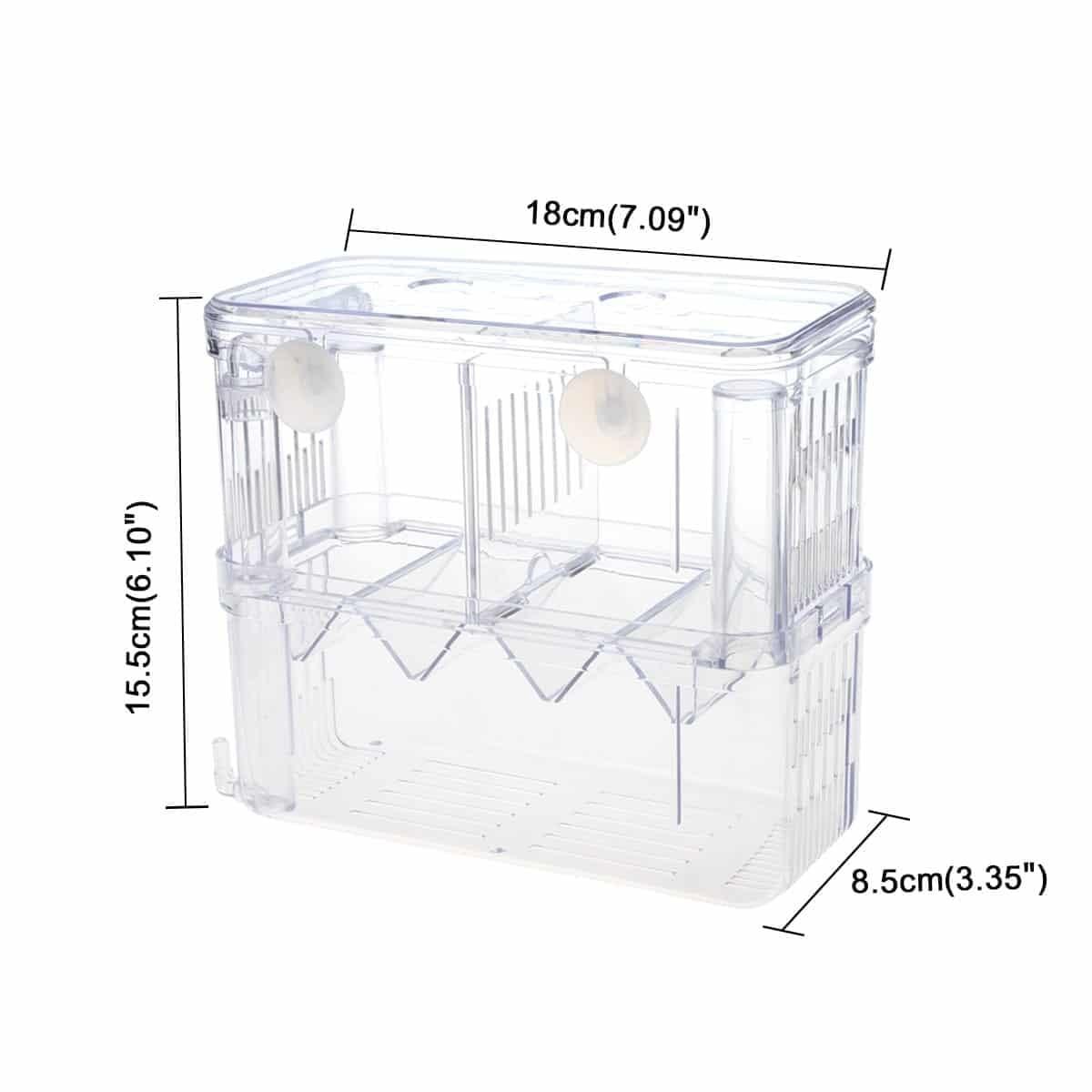 Fish Breeding Box/Shrimp Hatchery/Isolation Feeding Box for Aquarium