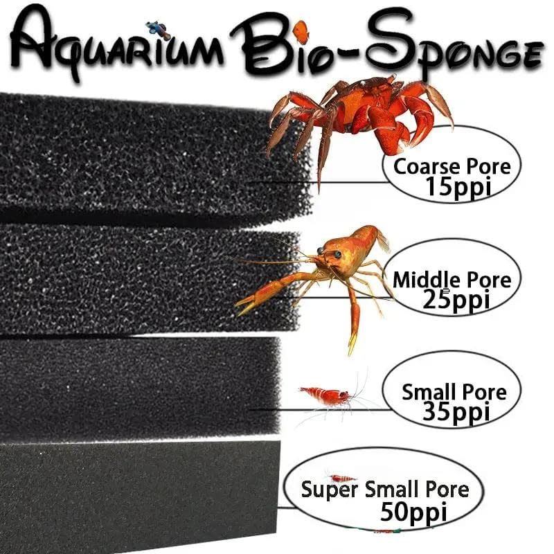 Haile Aquatic Bio Sponge Filter Foam for Aquarium Porosity 15 25 35 50 ppi